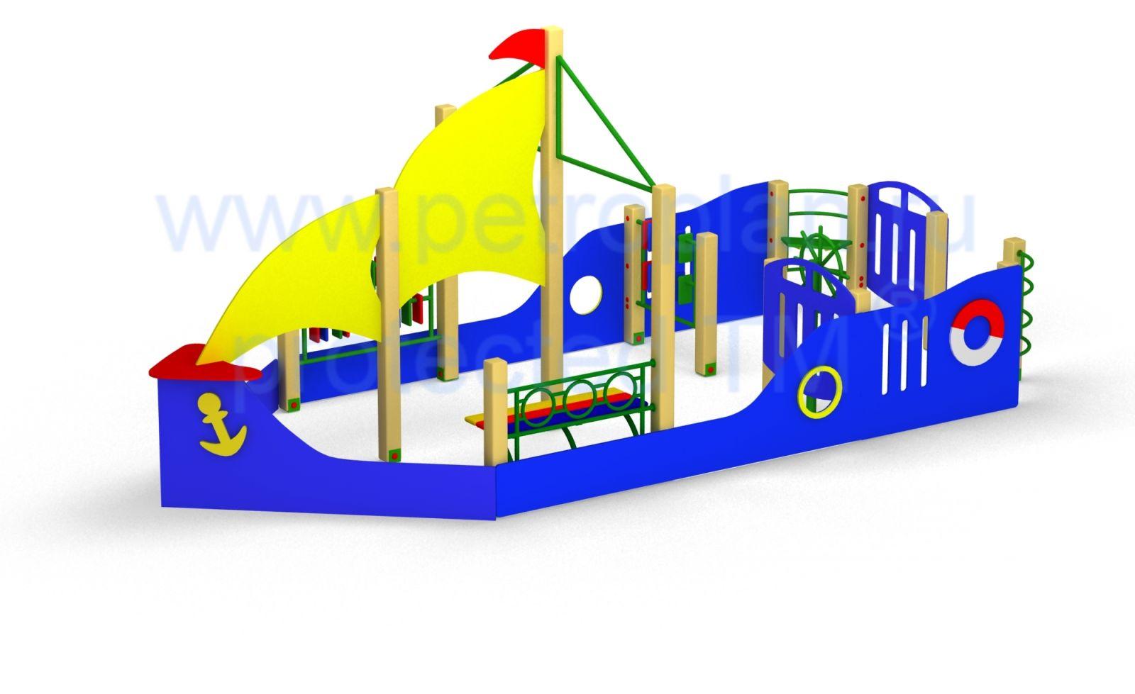 Кораблик на детскую площадку фото